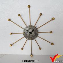 sun shaped vintage eco metal sun face wall clock