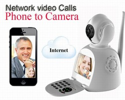 Hotselling Smart P2P NPC Skypecam Free Video Call Network Phone Camera/Alarm/CCTV Recorder