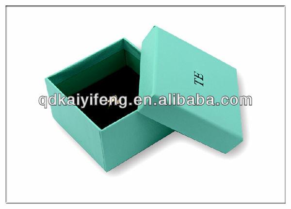 Jewelry Box Ring Inserts Blue Printing Ring Jewelry Box
