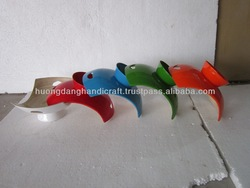 Colorful bowl fruit with high base, handicraft bowl wholesale