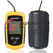 40m Portable Sonar Sensor Fish Finder depth Alarm LCD Fish Finder Transduce