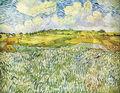 Pintura al óleo de paisaje rural sobre lienzo de Van Gogh