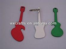 aluminum guitar key chain bottle opener
