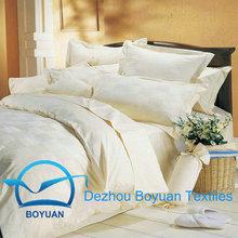"""100%cotton 60x60 200x95 105"""" white satin stripe bedsheet fabric"""