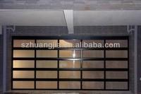 Single panel glass garage doors