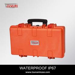 OEM!Orange color hard plastic carrying case for fire extinguisher