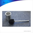 nylon toilet brush with stainless steel holder