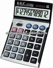 electronic solar metallic desktop calculator KT-380A