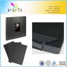 black board in sheets,black paper photo album bord,black paper cardboard