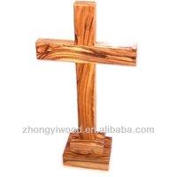 FSC cheap standing wooden crosses wholesale