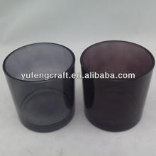 high quality black candle jars