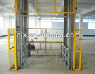 Hydraulic vertical material lifts