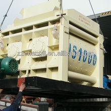 CE approve 50m3/h capacity JS1000 dough mixer machine,tumbler mixer machine,sand mixer machine