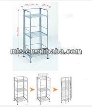 Folding Metal Display Storage Goods Shelves
