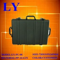 Pad lockable plastic instrument carring case