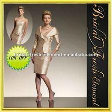 Hot Sale Good Quality Taffeta Embroidered Elegant Knee Length Mother Of The Bride Dresses