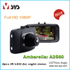 "GS8000 2.7"" LCD Screen Ambarella 2.0MP CMOS Sensor HD Vehicle Black Box f900lhd car dvr"