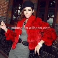"Newest Short Unique Women Sexy Winter Coats with Fox Collar 2013 European Street Style Fair-Lady Winter Fur Coats ""11"""
