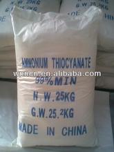 Ammonium Thiocyanate tech grade: inorganic industry used in the manufacture of cyanide, thiocyanate, ferrocyanide, thiourea