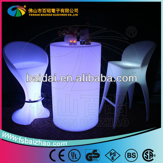 Smooth top LED high bar table / New Moulding LED Furniture