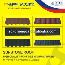 colorful stone coated metal roof shingle