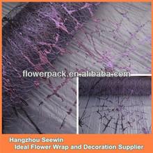 Dark Purple Silk Mesh Halloween Table Cloth