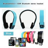 Wholesale Wireless Bluetooth Stereo Headset Headphone V3.0 Bluetooth Earpiece For Cell Phone Samsung iPhone iPad Nokia HTC SONY