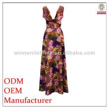 popular summer floral print drape back dress