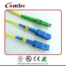 PVC, LSZH, OM3, OFNR, OFNP, Plenum optic fiber patch cord E2000 SC With High Mechanical Durability