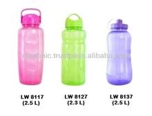 Coloured Plastic Water Bottle (2.5L)