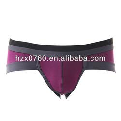 OEM China manufacturer mature men underwear boxer briefs white color cotton / spandex inner wear