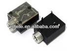 3.5mm Stereo Jack Socket Headphones Switch PCB Panel Mount With nut