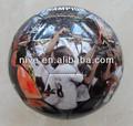 la costumbre de impresión de pvc de promoción de la foto del balón de fútbol