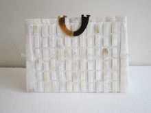 Imperial seashell handbag, reasonably affordable price handbag with white seashell lines design