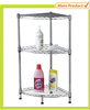 3 Tier Corner Powder Coating Kitchen Wire Storage Rack