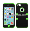 Newest hybrid 3 in 1 soft silicone for iphone5c protective case
