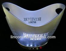 custom ice bucket, ice bucket plastic, champagne bucket led with handle