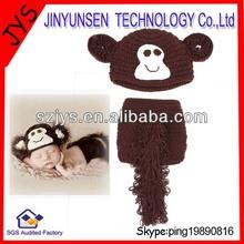 2 pcs monkey crochet baby hat baby beanie
