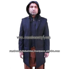 2014 Hot Sales High Quality Men's Wool Long Coat