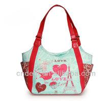Love Paris Printing Eco Canvas Tote bag