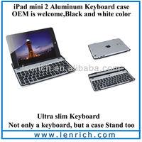 LBK131 German Layout Aluminum Bluetooth Keyboard For iPad mini, QWERTZ Bluetooth Keyboard Case For iPad mini 2
