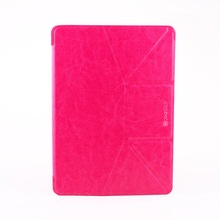 Brand new 2014 trendy hot selling laptop smart cover leather case for ipad air 32gb custom stand case