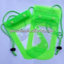 nice pvc zipper mobile phone waterproof bag with rope