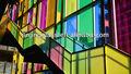 Color 10.38mm temple de vidrio laminado