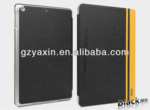 Factory wholesale leather phone case for ipad air rotation case