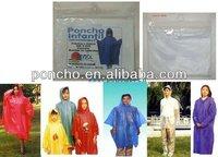 disposable poncho/ponczo/breathable rain poncho/foldable disposable poncho