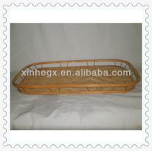 handwoven natural flat bamboo tray