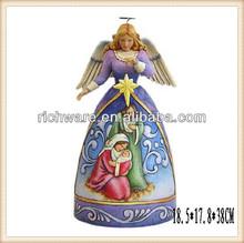 Wholesale polyresin hanging Christ nativity angel ornament