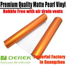 Derek Orange Matt Chrome Vinyl Car Wrapping Film With Air Drains / Size: 1.52 M Width By 20 M Length --Factory Directly