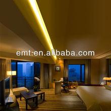 Wooden base and beautiful upholstery king-bed room furniture set,Custom design hotel furniture project (EMT-HTB05-(02))
